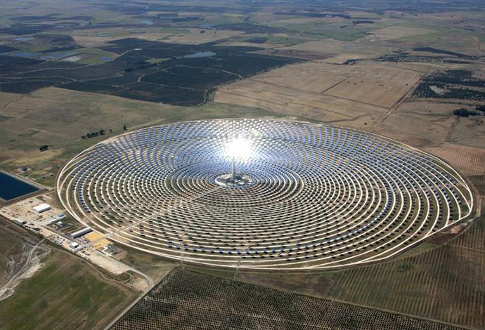 The Torresol Energy Gemasolar thermasolar plant in Fuentes de Andalucia near Sevilla. (AFP Photo / Gemasolar)