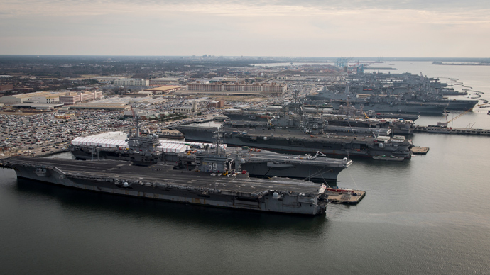 Aircraft carriers USS Dwight D. Eisenhower (CVN 69), USS George H.W. Bush (CVN 77), USS Enterprise (CVN 65), USS Harry S. Truman (CVN 75), and USS Abraham Lincoln (CVN 72) (Reuters)