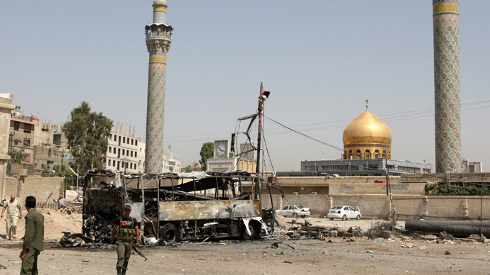 Iraqi, Lebanese Shiites unite to 'protect Damascus shrine from Sunni rebels'