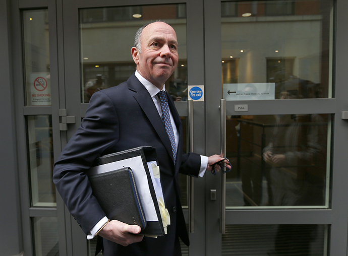 Jonathan Acton Davis, Lead Counsel to the Al-Sweady Public Inquiry, arrives for the first day of the inquiry, in central London March 4, 2013. (Reuters / Andrew Winning)