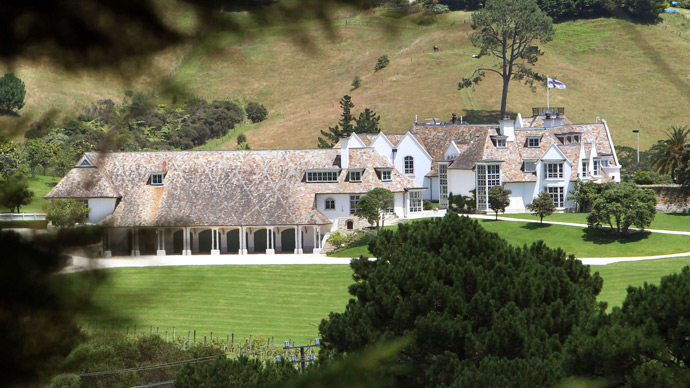 "A view at the ""Dotcom Mansion"" (AFP Photo / Michael Bradley)"