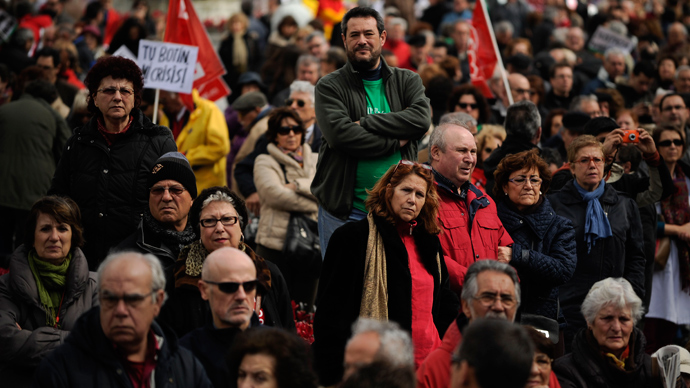 Spain takes to streets in tens of thousands against unemployment, economic scandals (VIDEO, PHOTOS) - RT News