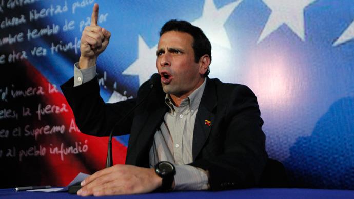 Capriles joins Venezuelan presidential race