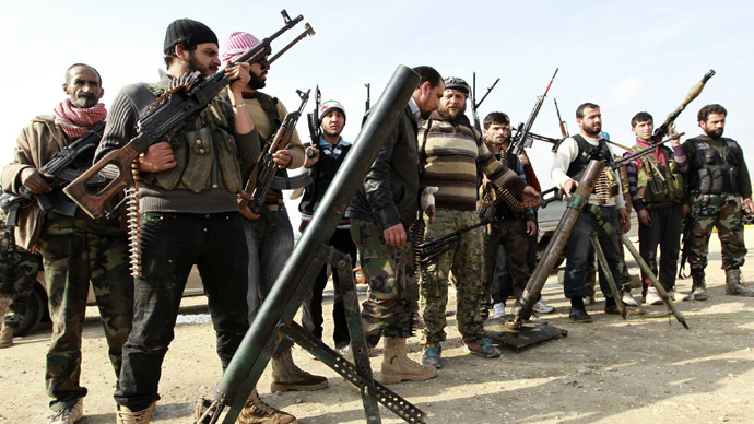 Free Syrian Army fighters  (Reuters/Muzaffar Salman)