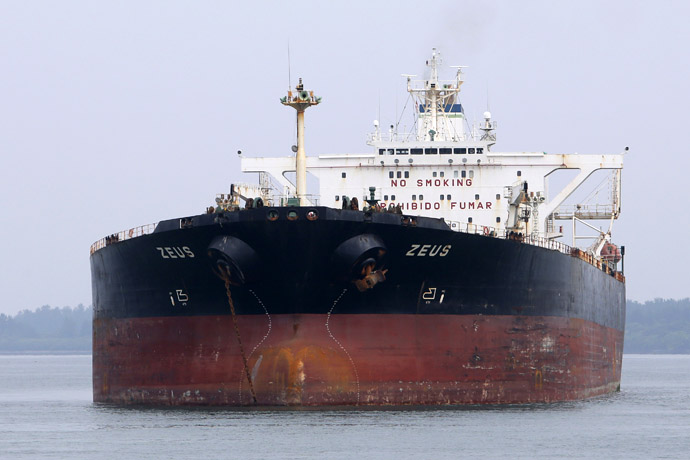 Crude oil tanker Zeus (Reuters/Tim Chong)