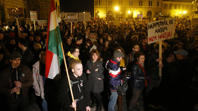 'Not a dictatorship yet': Thousands of Hungarians protest constitutional change
