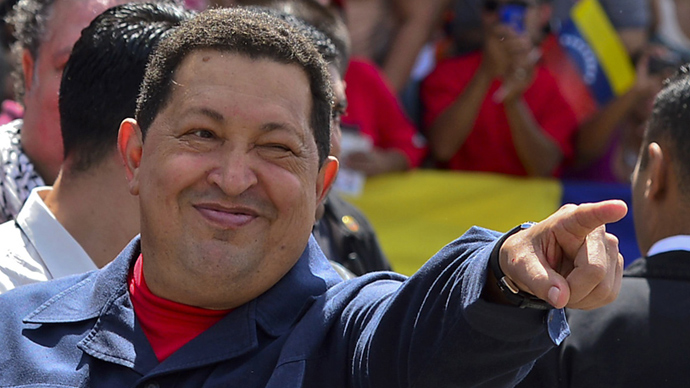 Late Venezuelan President Hugo Chavez (AFP Photo / Luis Acosta)