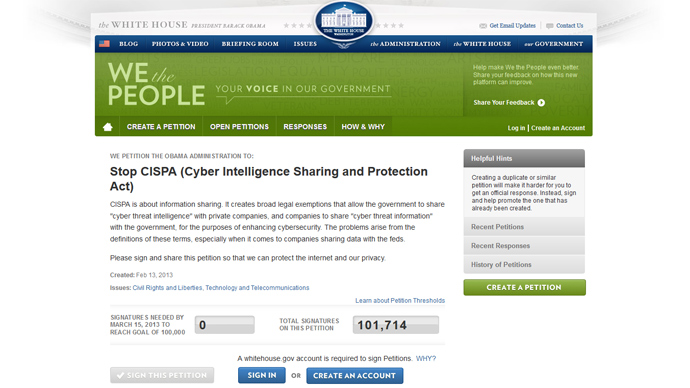 CISPA sponsor tweets, then deletes, link to support's financial incentives
