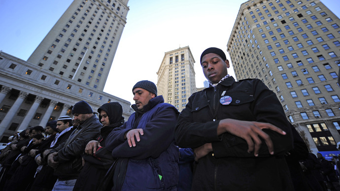 New York Muslims protest police surveillance