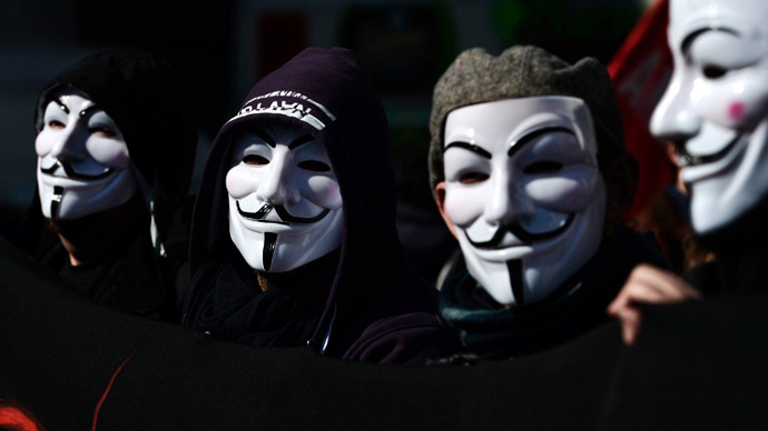 Anonymous protests outside Ohio court as rape trial begins