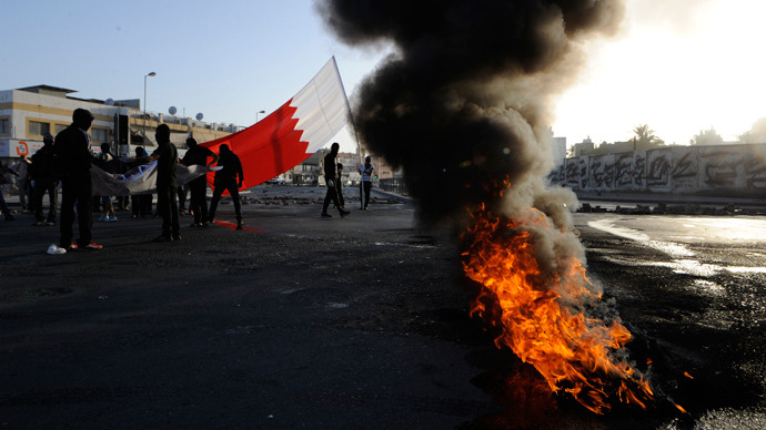 Clashes and teargas in Bahrain as thousands remember Gulf forces intervention