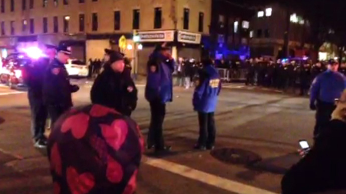 'How do you spell racist? NYPD!' : Brooklyn police brutality riots continue