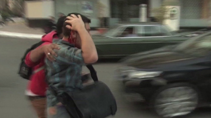 Still from video by Alikhbaria Syria TV
