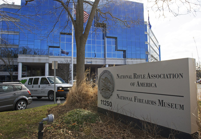 The National Rifle Association(NRA) headquarters is seen March 14, 2013, in Fairfax, Virginia. (AFP Photo/Paul J. Richards)