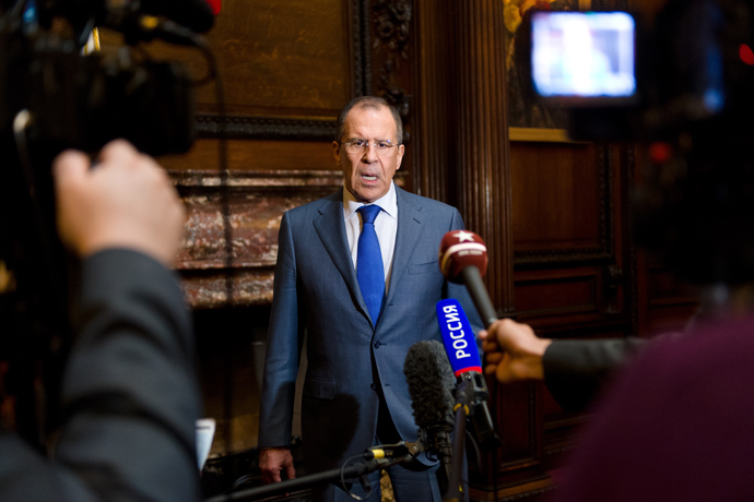 Segey Lavrov (AFP Photo / Leon Neal)