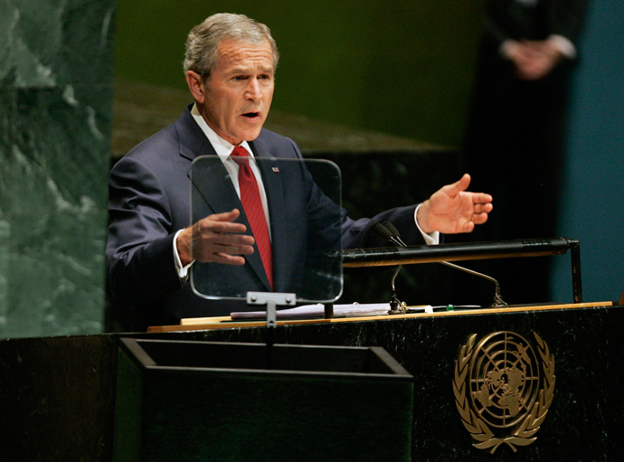 U.S. President George W. Bush speaks at the 61st U.N. General Assembly in New York, September 19, 2006 (Reuters / Mike Segar)