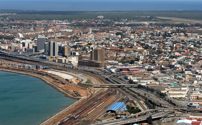 Cityscape of Port Elizabeth in South Africa.(Reuters / Euroluftbild.de)