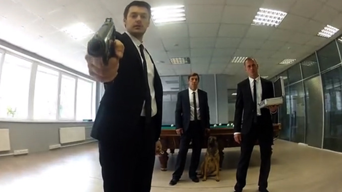 'Insane office escape': Russian rock sensation 'BMF' video explodes online