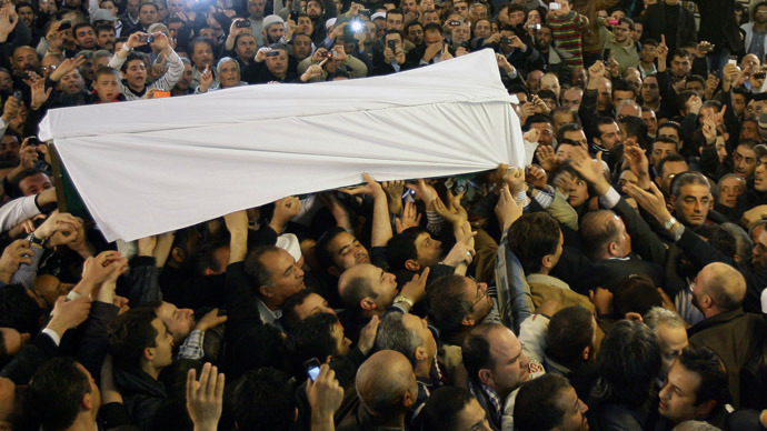 Thousands gather in Damascus for funeral of assassinated Syrian cleric (VIDEO)