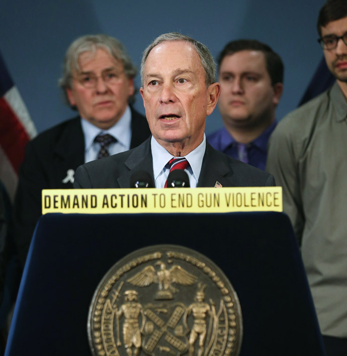 New York City Mayor Michael Bloomberg speaks out for gun reform at a press conference on March 21, 2013 in New York City. (John Moore/Getty Images/AFP)