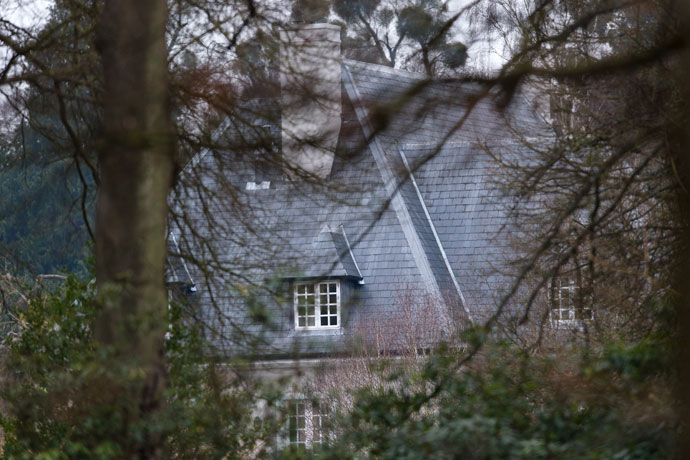 A picture shows part of the house of Russian tycoon Boris Berezovsky in Sunningdale, Berkshire, southwest of London, on March 24, 2013.(AFP Photo / Leon Neal)