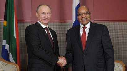 Summit skirmish: Putin`s security face off with S. African guards at BRICS meeting (VIDEO)