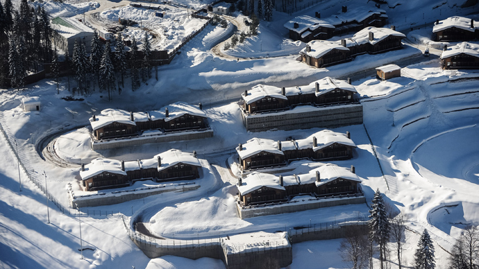 An Olympic village at the Laura ski and biathlon center (RIA Novosti / Nina Zotova)