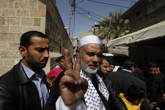 Hamas leader Ismail Haniya (AFP Photo / Mohammed Abed)