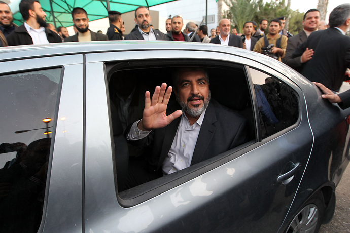 Palestinian Hamas leader-in-exile Khaled Meshaal (AFP Photo / HO / Ismail Haniya's Office)