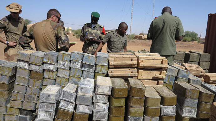 French troops seize 7 tons of firearms from Mali rebels