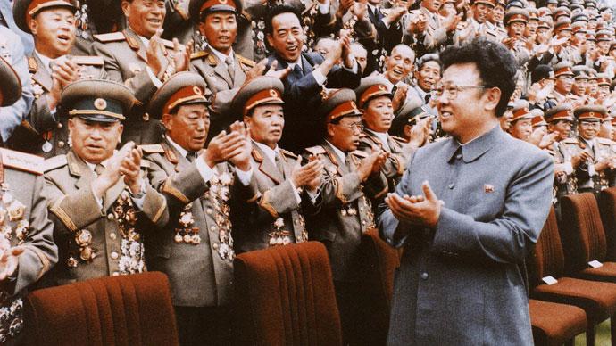 North Korean leader Kim Jong-Il meets with Korean People's Army personel in September 1988 file photo. Kim Jong-Il was named as the General Secretary of North Korean ruling Workers' Party.(AFP Photo / Korean News Service)