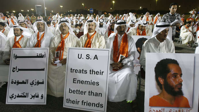 Kuwaiti activists rally for Gitmo prisoners, hunger strikers 'prepare for death'