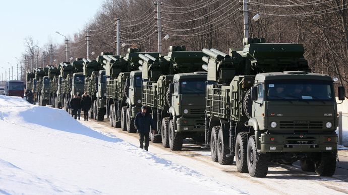 Russian Air force received first 10 of the new air-defense missile systems SA-22 Greyhound (Pantsir-S1) (RIA Novosti / Alexey Kudenko)