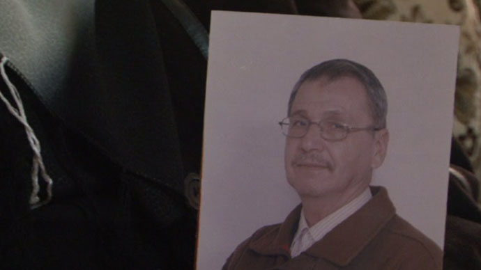 Screenshot from RT video showing the photo of the late Maisara Abu Hamdiyeh