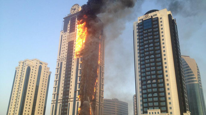 Luxury Skyscraper Hotel Destroyed In Massive Blaze In