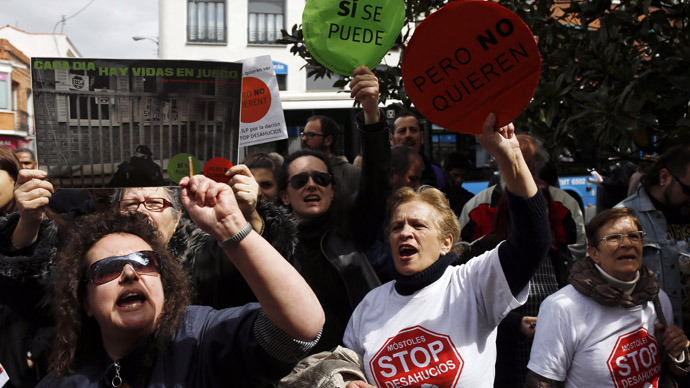 Knock-knock: Anti-eviction rallies come to Spain MPs' doorsteps