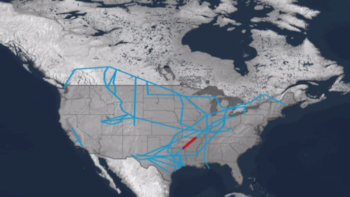 Pegasus crude oil pipeline, US