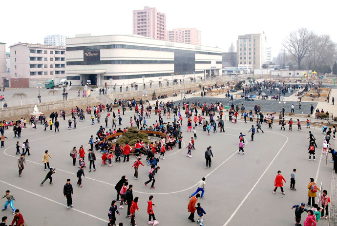 North Koreans enjoy themselves on a Sunday in Pyongyang March 17, 2013 in this picture released by the North's KCNA news agency March 17, 2013. (Reuters/KCNA)