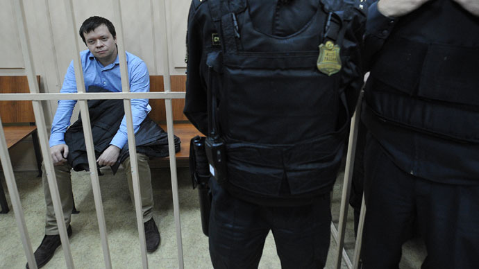 Russian opposition activist 'confesses to plotting mass disorder'