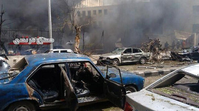 Huge blast near Damascus school targets Syrian PM, at least 10 killed