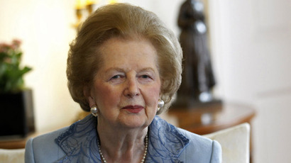 Margaret Thatcher (AFP Photo/Suzanne Plunket/Pool)