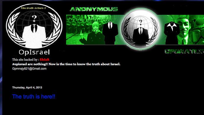 You hack me, I hack you: Israeli hackers break alleged Anonymous website