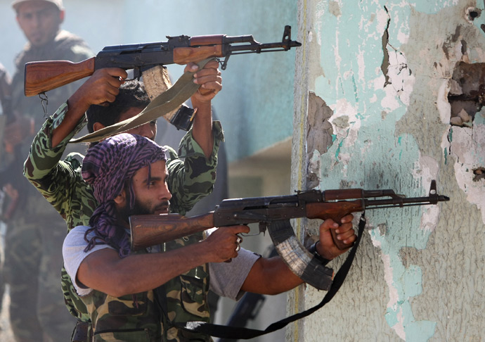 Libyan National Transitional Council fighters (AFP Photo / Ahmad Al-Rubaye)