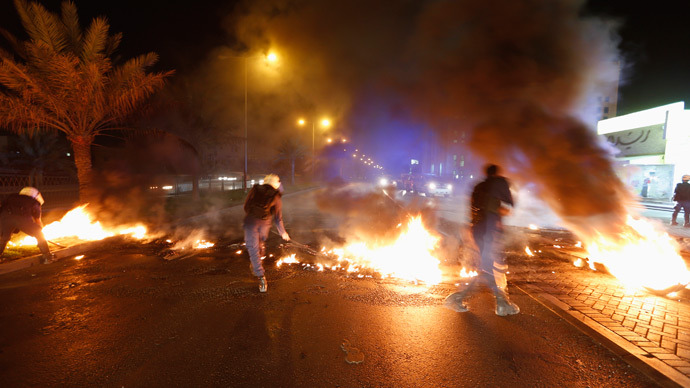 Bahraini police clash with Formula One protesters