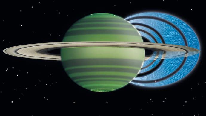 Saturn's rings 'showering' on its atmosphere