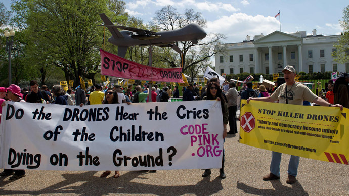 Drones out of everywhere! Washington march against US drone warfare