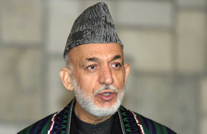 Afghanistan President Hamid Karzai. (AFP Photo / Susan Walsh)