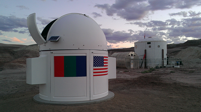 The Musk Mars Desert Research Observatory equipped with a Celestron 14-inch CGE1400 telescope (Image from mars-russia.ru)