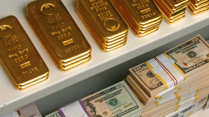 $560 billion wiped of Central Banks' reserves on gold slump