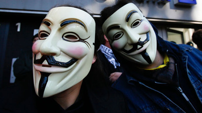 Anonymous attacks website of Spanish parliament as Madrid faces mass protest